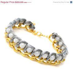 Sale Boho style bracelet chain and bears bracelet by SheBijouPl, $16.00