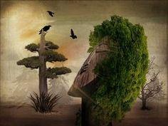 Stranger in the Forest - digital art by Terry Fleckney  via @terryfleckney #fantasyart #surrealism #homedecor