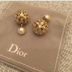 Beautiful Dior tribal earrings
