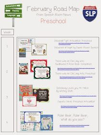 Speech Room News: Road Map February: Lesson Plans
