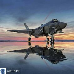 @Regrann from @rcaf_pilot - Lightning II reflections. The C model F-35 will be used by the US Navy and Marine Corp. The jet is equipped with folding wings, arresting hook, and catobar so that it can operate from the large super carriers. Lockheed #USNavy #f35 #lightning2 #f14 #f15 #america #usn #unitedstates #navy #hornet #instaavaition #comeflywithme #aviationphotography #aircraftcarrier #usa #afterburner #pilotlife #boeing #lockheedmartin #planes #airbus #militaryaviation #jet #fighter...