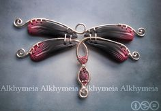 Libellula, a polymer clay and wire work creation