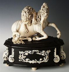 Pferd and Löwe by Barthel, Melchior (1625-1672)