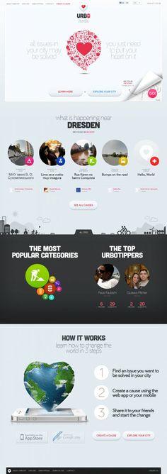 Urbotip - Lets create a better world - #Webdesign #inspiration www.niceoneilike.com