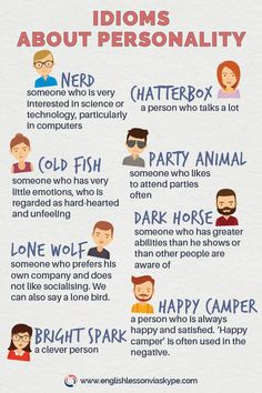 English Idioms Describing Character and Personality - Learning English - #character #Describing #English #idioms #learning #Personality