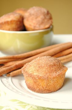 Doughnut Muffins -Maybe for Tea! Would look so pretty on a pretty plate or tier of other goodies.    by How To: Simplify, via Flickr