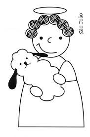 santos populares - Pesquisa do Google Saint Antonio, Finger Puppet Patterns, Saints, John The Baptist, Mother And Child, Art Activities, Coloring Pages For Kids, Art For Kids, Hello Kitty