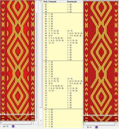 26 tarjetas, 3 y 2 colores, repite cada 20 movimientos // sed_294 diseñado en GTT༺❁