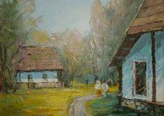 Andrei Branisteanu  - Peisaj la Rodna Painting, Art, Art Background, Painting Art, Kunst, Paintings, Performing Arts, Painted Canvas, Drawings
