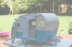 Vintage Shasta Camper Miniature Camper  by SugarCottageShop