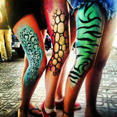 zoo project animal print body paint