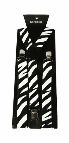Zebra Print Suspenders