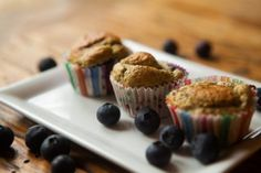 Blueberry Muffins - Stay on track with your fitness goals  www.onefitbrit.com