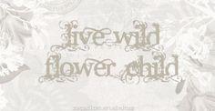 ☮ American Hippie Bohéme Boho Style ☮ Wild Flower Child