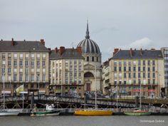 la Loire Nantes quai de la fosse vue sur notre dame de bon port