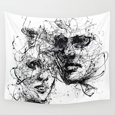 our lines, our story, it isn't a linear path Wall Tapestry