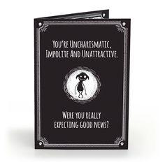 Anti-greeting Card - uncharismatic