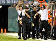 Philadelphia Eagles head coach Chip Kelly against the New York Jets during the first half of a preseason game at Metlife Stadium.