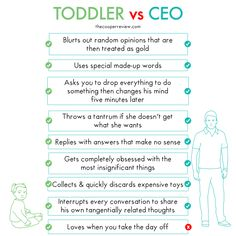 Did you know there's already a toddler running around your office? Check out the comparison between babies and CEOs!