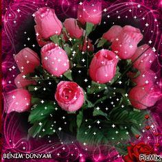 Rose Flower Wallpaper, Flowers Gif, Glitter Flowers, Beautiful Bouquet Of Flowers, Beautiful Flowers Wallpapers, Beautiful Nature Wallpaper, Beautiful Flower Arrangements, Pretty Flowers, Happy Birthday Wishes Cake