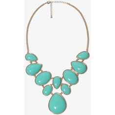 FOREVER 21 Bejeweled Bib Necklace ($13) ❤ liked on Polyvore