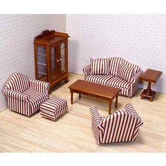 Marvelous Melissa U0026amp; Doug Deluxe Doll House Furniture  Living Room Set Melissa  U0026amp;