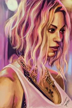 Beyonce's painting.