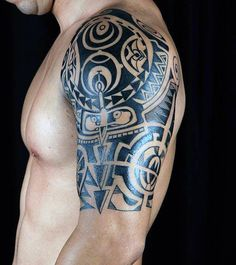 maori tattoos for women meaning – Tatto Ideas Tribal Shoulder Tattoos, Tribal Tattoos For Men, Back Tattoos For Guys, Mens Shoulder Tattoo, Trendy Tattoos, Tattoos For Women, Unique Tattoos, Men Tattoos, Polynesian Tattoo Designs