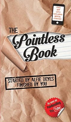 """I really really can NOT believe that Alfie, Alfie freaking Dayes has a book coming out. This is way too amazing. I'm UBER proud of Alfie! #PointlessBlog #PointlessBook . This makes me just wanna go to vidcon even MORE to meet him (& his other YouTuber pals/friends/mates) ♡ I am soooooo buying it. And best part, it is not like a """"reading book"""" but it's like an """"activity book"""" for days you have nothing to do. Let me go find credit card!! -Christina=) PRE-ORDER THIS FROM AMAZON.COM"""