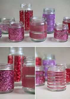 Hermosas ideas con frascos reciclados, podes lograr decoraciones divinas !!! #sovenirs