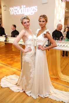 New York Weddings Event  Daniella and Lauren wearing gowns from Angelique Bridal