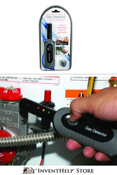 The Portable Gas Detector is an easy-to-use, handheld device that identifies potentially hazardous leaks in pipes, fittings, valves, gas storage tanks, home appliance tanks and hot water heaters.Available at inventhelpstore.com.