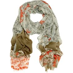Etro Paisley-print cashmere scarf (4.100 ARS) ❤ liked on Polyvore featuring accessories, scarves, women, multi colored scarves, etro scarves, paisley scarves, sheer shawl and paisley shawl