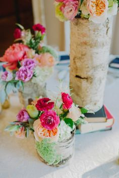 Birch and bright florals: http://www.stylemepretty.com/florida-weddings/miami-fl/2015/02/20/vintage-chic-outdoor-country-club-wedding/ | Photography: Shea Christine - http://www.sheachristine.com/