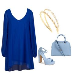 A dressier double blue and gold outfit!