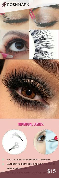 Individual false lashes JUST IN !!   New in box   individual false lashes   *glue include*  I have added some awesome helpfull tips above ;) Makeup False Eyelashes