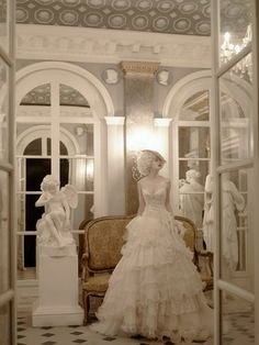 {St. Pucchi wedding gown} Lace and tulle skirt with corset top