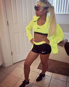 7.4.16   Nike pro is my go-to summer attire #AmourHairCollection