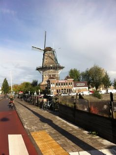 Windmill 'the Gooyer', right in the middle of Amsterdam, located next to the famous Brewery 't IJ' & cafe Langendijk