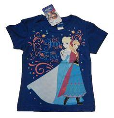 Tshirt blu con Anna ed Elsa di Frozen originale della Disney
