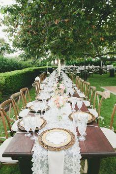 Gold and Blush Hued Outdoor Wedding in Malibu (via Bloglovin.com )