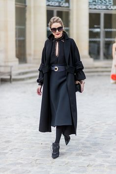 Olivia Palermo outside Dior on March 3 2017 in Paris France