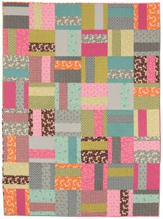 This 1, 2, 3! quilt by Amy Ellis is totally weekend-worthy: simply choose two prints per block and off you go to cut and sew. Includes instructions for baby-, lap-, and twin-quilt sizes.