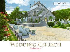 The Sims 4 Wedding Church The Sims, Sims Love, Sims Cc, Sims 4 Family House, Sims 4 House Plans, Small Greenhouse, Greenhouse Ideas, Sims 4 Characters, Sims 4 Build