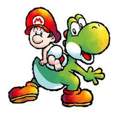 Baby Super Mario and Yoshi! Mario Kart, Mario Bros., Mario And Luigi, Super Mario Brothers, Super Mario Bros, Super Nintendo, Donkey Kong, Mega Man, Yoshi Island