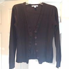 Dark brown, button front, cardigan sweater, S Dark brown, button front, cardigan sweater, S Sweaters Cardigans
