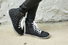 GoJane's latest BFF (Blogger Friend Forever), Izumi of Hybrid Hunter, doing her thing in our studded sneakers.