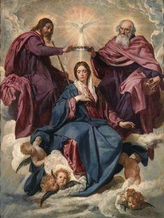 La Coronación de la Virgen - Velázquez- Colección - Museo Nacional del Prado