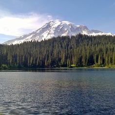 Reflection Lake at Mount Rainier State Park.  #hiking #pnw #upperleft #wastate #mountain