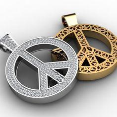 Custom Made Peace Sign Pendants by Paul Michael Designs on CustomMade.com